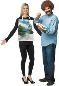 Bob Ross With Painting Kit Adult Couples Costume Mens Womens Halloween