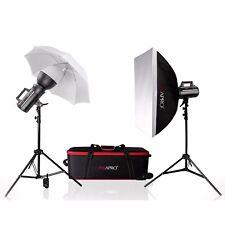 GS400II Cool Bowens S Fit Studio Strobe Flash Kit Baby Scuola Ritratto Fashion