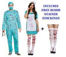 Bloody Zombie Nurse Scrubs Surgeon Halloween Horror Fancy Dress Outfit Costume