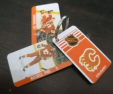 CALGARY FLAMES OLD HOCKEY KEYCHAIN RUSSELL CHOUINARD EDWARDS RICHIE RISEBROUGH