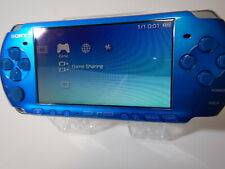 Sony Playstation PSP 3000 Console Vibrant Blue Console only Four parts or repair