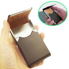 Pocket Cigarette Case Tobacco Cigar Storage Box Flip Top Holder Container Brown