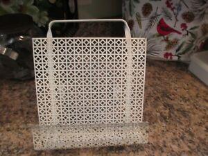 Vintage White Metal Cookbook Recipe Holder