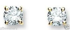 18CT HALLMARKED YELLOW GOLD 0.50CTS G/H SI1 DIAMOND SOLITAIRE STUD EARRINGS