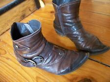 Boots en cuir marron T 37