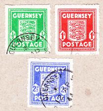 Guernsey Mi.Nr. 1-3 gestempelt