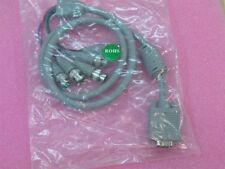 VGA 15 PIN MALE TO 5 RGB/BNC CONNECTORS E119932 CABLE NEW