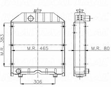 RADIATORE TRATTORE FIAT 465 / 55-65 / 50-66 / 55-75 / 45-76 / 80-76 RAME! 4 FILE
