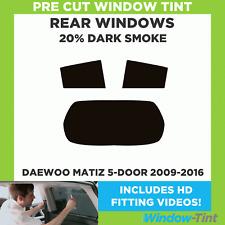 Pre Cut Window Tint - Daewoo Matiz 5-door 2009-2016 - 20% Dark Rear