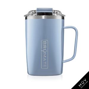BRUMATE TODDY Mug 16 oz Leak proof Locking Lid hot or cool - DENIM Blue