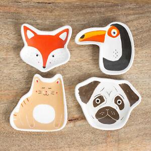 Novelty Cute Animal Shaped Ceramic Tea Bag Holder Storage Teabag Rest Tidy Spoon