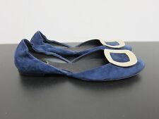 Nouveau roger vivier Ballerines Bleu Daim Flat shoes blue d37, 5 uk4, 5 id2809