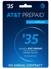 AT&T Prepaid Plans $35 + 1st Month Service (30 days Service) Pre-Loaded Sim Card