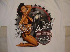 Hot Leathers Bike Week 2012 Sexy Bikini Girl Dayton Beach White T Shirt M