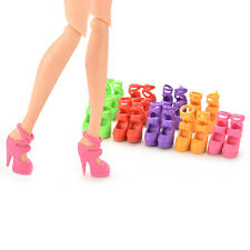 Set of 10 Pairs Fashion Dolls Shoes Heels Sandals For Barbie Dolls Random 5HUK