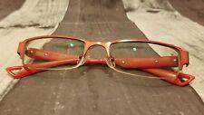 Gorila Eyeglasses G9395 51-18-140 Italy Half Rimless Red Flex-Hinge 8494
