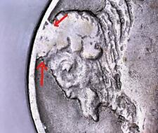 1915-D Buffalo Nickel With Cud Error; VF
