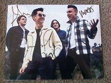 Arctic Monkeys Autographed 11x14 Photo Turner Cook O'Malley Helders PROOF 4/4