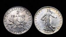 2 Francs 1915 Semeuse. Argent. Comme neuve