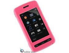Leather Wrap Plastic Protector Hot Pink Phone Case Cover For LG Vu CU920 CU915