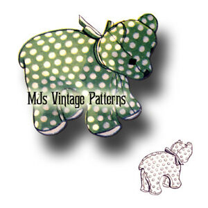 Vintage Baby Bear Pattern