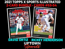 2021 Topps x Sports Illustrated Bundle Cards 53-54 David Ortiz -Rickey Henderson