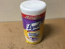Lysol Dual Action Disinfecting Wipes w. Scrubbing Texture, 75ct