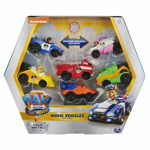 PAW Patrol True Metal Movie Gift Pack of 6 Collectible Die-Cast Toy Cars, 1:55