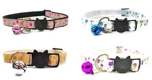 Cat Collars with Bell - Roses Print   Pet Collars   Safe, Quick Release Buckle