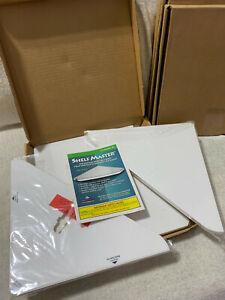 Shelf Master QVC 4 pack Floating Wall Mount White Corner Shelves As Seen on TV