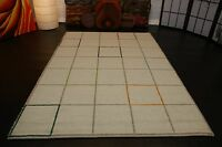 nr 2081 handgewebter Teppich Kelim Kilim aus Wolle ca 188 x 128 cm Neu Beige