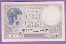 (Ref: N.81)  5 FRANCS VIOLET 28/04/1932 (NEUF) RARE