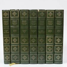 Charles Dickens Complete Works Gilded Green Bonded Leather Hardback Volumes x7