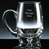 PERSONALISED Bubble Base Glass Tankard FREE ENGRAVING Any Message Engraved NEW