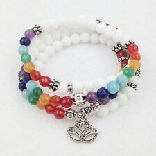 Lotus 108 Mala Bead Healing Jewelry Chakra Necklace Bracelet Meditation Zen Yoga