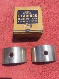 1948-1953 Ford Flathead 239ci V8 NOS .030 Crankshaft Main Bearing Set 81A-6333-N