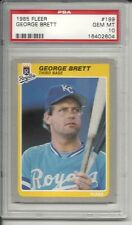 1985 Fleer George Brett #199 PSA 10 Gem Mint Baseball Card.