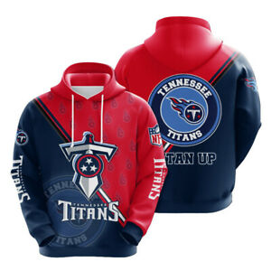 Tennessee Titans Hoodie Men's Athletic Hooded Sweatshirt Pullover Gift for Fans