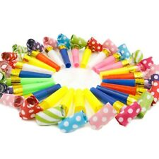 10pcs Party Blowers Blowouts Birthday Loot Bag Filler Foil Noise Whistles Toy UK