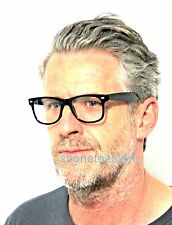Mens Black Optical Frames Clear Lens Glasses Geek Nerd Retro Vintage Style