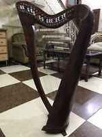 22 Strings Harp with Levers & Extra Strings, Carry Soft Bag & Tuning Key