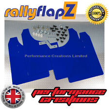 rallyflapZ to fit VAUXHALL ASTRA VXR (05-11) Mudflaps Mud Flaps Blue 4mm PVC