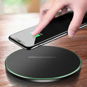 US 15W Qi Wireless Charger Metal Fast Charging Mat Pad For i Phone 8 11 XS XR X