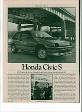 1984 Honda Civic S road test article 5 pages