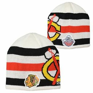 Reebok NHL Youth Chicago Blackhawks 2017 Winter Classic Beanie Hat, OSFM