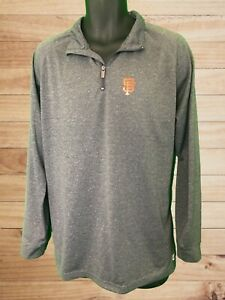 San Francisco Giants Men's LS Charcoal 1/4 Zip Pullover by Stitches! Logo. Sz L