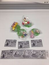 Lot 4 Super Mario Brothers Bros Figure Figurine Peach Toad Wiggler Hana-chan