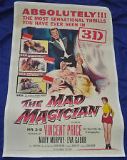 Mad Magician linen back Original 27x41 One 1 Sheet Movie Poster - (1954) ITB WH