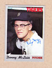 Denny McLain signed 1970 Topps card #400-Detroit Tigers