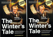 2 X THE WINTERS TALE 2017 TOUR FLYERS - WILLIAM SHAKESPEARE ORLANDO JAMES
